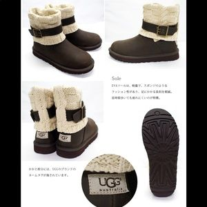 UGG Australia Caside Cable Knit Boots (never worn)